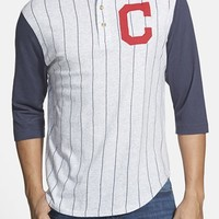 Men's Red Jacket 'Cleveland Indians - Double Play' Jersey Henley,