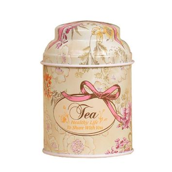 Retro Sealed Home Storage Box Flower Metal Coffee Sugar Tea Tin Jar Container