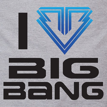 I heart Big Bang ALIVE album - Kpop Korean Band K pop Korea Music heart logo tee t-shirt