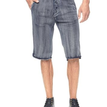 True Religion Indigo Terry Mens Shorts - Indigo