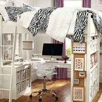 Sleep + Study Zebra Bedroom
