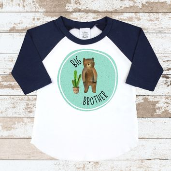 Big Brother Blue Navy Raglan Shirt