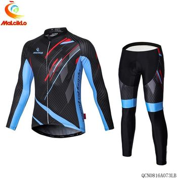 Pro Team Cycling Jersey Set Long Sleeve Mountain Bike Clothes Wear Maillot Ropa Ciclismo Racing Bicycle Bib Shorts