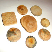 Wood discs, wood slices. Jewelry findings, collection jewelry supplies. Assorted mix natural wood. Jewelry supply accessories jewelry makers