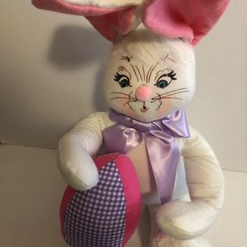 Annalee Dolls 18in 2015 Easter Egg Bunny Plush New with Tags