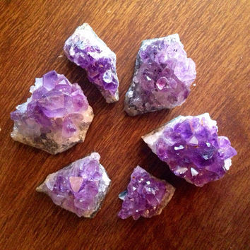 Mini Amethyst Clusters Raw Crystal Healing Crystals and Stones Rough Amethyst Raw Minerals Bohemian Decor Ritual Tool Alter Meditation Stone