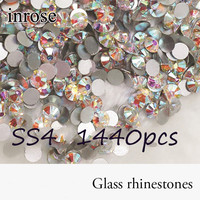 Promation! Glass Rhinestones 1440pcs SS4 Crystal  AB Nail Art Rhinestones For Cell Phone And DIY Design