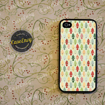 Lovely Christmas Tree Pattern Phone Case! Choose: iPhone 4 / 4s / 5 / 5s or Galaxy S3 / S4