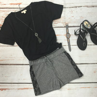 Terry & Lace Shorts