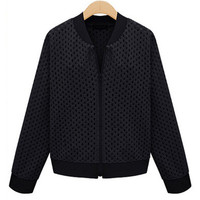Long Sleeve Lace Cut-Out Jacket