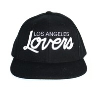 Lovers & Friends LA Lovers Snapback In Black As Seen On Demi Lovato