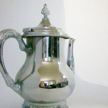 Silver Plated Tea Set, 6 Piece Set, Silver Tea Pot, Forbes Silver Plate