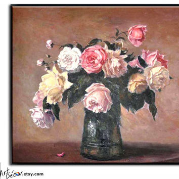 Impression Floral/Flower Oil Painting, Oil On Linen Canvas, By Frank.
