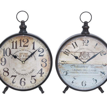Desk Clock with Round Face for Table 4 Assorted