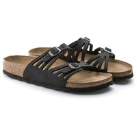 Granada Soft Footbed Black Oiled Leather | BIRKENSTOCK