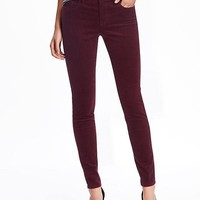 Mid-Rise Rockstar Cord Skinny Jeans for Women | Old Navy