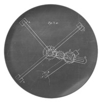 Industrial Engineering Chalkboard 1 Dinner Plate
