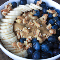 nuts & blueberries & bananas | via Tumblr