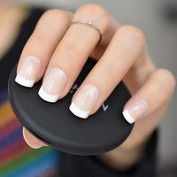 Nude Natural White French Fake Nails Tips Acrylic UV False Nails Press on DIY Manicure Salon Stickers Artificial Nail Tip