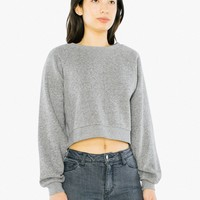 Mock Twist Cropped Pullover | American Apparel