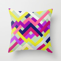 Pink & Yellow No. 1 Throw Pillow by House of Jennifer