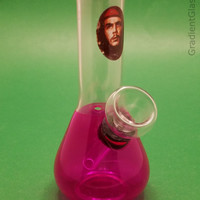 Bright Pink Che Guevara Glass Water Pipe