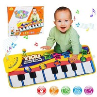 DCCKFS2 New Infant Baby Piano Playing Toy With Funny Music And Animal Sounds Crawling Mat Bay Kids Educational Gift 72*29cm