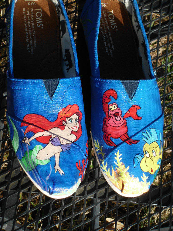 Custom Painted Shoes Little Mermaid From Seriouslysavage