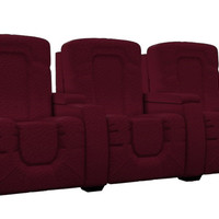 3-Seat Fabric Reclining Home Theater Seating (Straight) Rhumba by Savvy