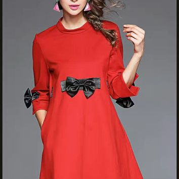 Butterfly Bow A-Line Dress