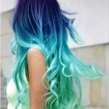 Shop Pastel Dip Dye On Wanelo - Peacock hairstyle color