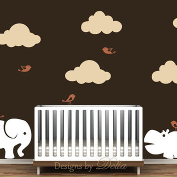 Nursery Jungle Mural Decal Set