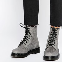 Dr Martens 1460 Grey Python Suede Boots