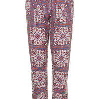 Paisley Print Pajama Bottoms - Multi