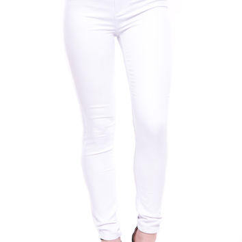 HIGH RISE 3 BUTTON SKINNY JEAN