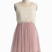 claire de lune tulle dress in pink at ShopRuche.com