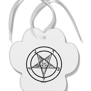 Sigil of Baphomet Paw Print Shaped Ornament by TooLoud