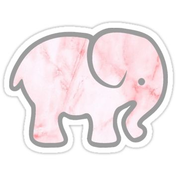 Pink Marble Elephant by amariei