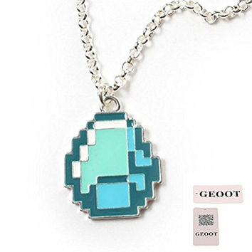 GEOOT Minecraft Diamond Pendant Necklace (Minecraft)