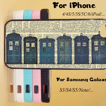 Police Box,iPod touch 5 case,HTC One X Case,iPhone 5C Case,iPhone 5S Case,iPhone 4 Case,Galaxy Samsung S3, S4,S5,Note 2/3 case