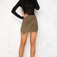 Chick Flick Skirt Khaki
