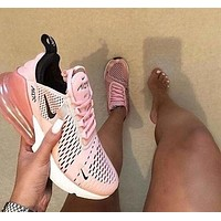 Nike Air Max 270 Stylish Women Personality Transparent Air Cushion Running Sport Shoe Sneakers
