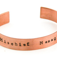 Mischief Managed Hand Stamped Bangle