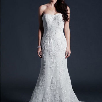 KCW1578 Lace Trumpet Wedding Dress by Kari Chang Eternal