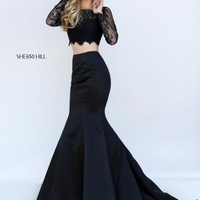 Sherri Hill Lace Mermaid Dress 50467