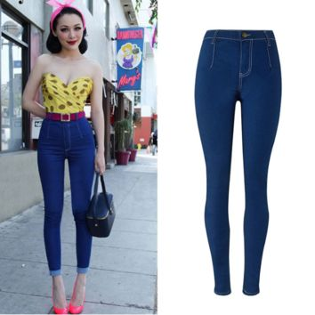 women Candy color slim jeans stretch [9919012300]