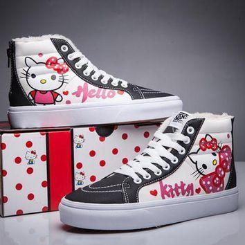 VANS X Hello Kitty SK-Hi Flats Ankle Boots Sneakers Sport Shoes