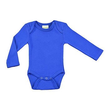 Royal Blue Long-Sleeve Bodysuit - Infant | zulily
