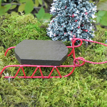 Fairy Garden Sleigh sled for dollhouse or miniature garden terrarium
