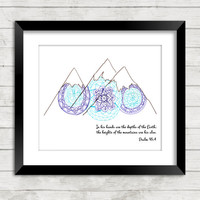 Mountain Art, Mandala Art, Mountains, Scripture Art, Scripture, Zentangle